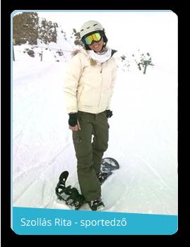 szollás rita sí snowboard korcsolya oktató